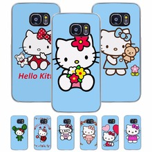 Luxury cute hello kitty design transparent hard case for Samsung Galaxy S8 S7 S6 S8Plus S7edge S6edge S5 S4 Note8 Note5