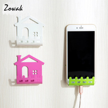 Cellphone Iron Cell Mobile Phone Shelf Wall Holder Sticker Stand Adhesive Charging Storage Rack Mobile Phone Charger Organizer