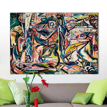 HDARTISAN Abstract Canvas Art Wall Pictures For Living Room Jackson Pollock Circumcision Modern Painting Home Decor Printed