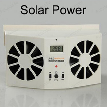 2W Solar Sun Power Car Auto Air Vent Cool Fan Portable Cooler Radiato with Display Ventilation System(China)