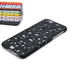 For iPhone 4 4S 5 5S SE 6 6S Candy Color Phone Bags & Cases Hollow Out Scrub 3D Bird's Nest Hard Phone Back Cover Coque Capa