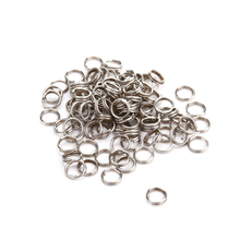 100pcs Stainless Steel Fishing Split Rings Winter Fishing Gear Accessories Swivel Lure Connector Tackle Barrel Hard Bait Carp