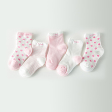 5Pair/Lot 100% Cotton Baby Socks  Newborns Candy Male Female Kid's Children Socks Baby Boy And Girl Short Floor Socks