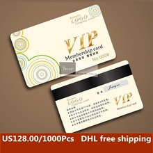 1500pcs/lot customized Credit Card Size Eco-friendly PVC Membership Barcode Card with free shipping DHL(China)