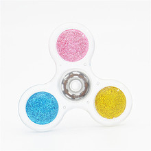 Doub K ABS colorful Finger Spinner 608 bearing Stress Relief sliding puzzle spiner new Toys for adult children wholesale(China)