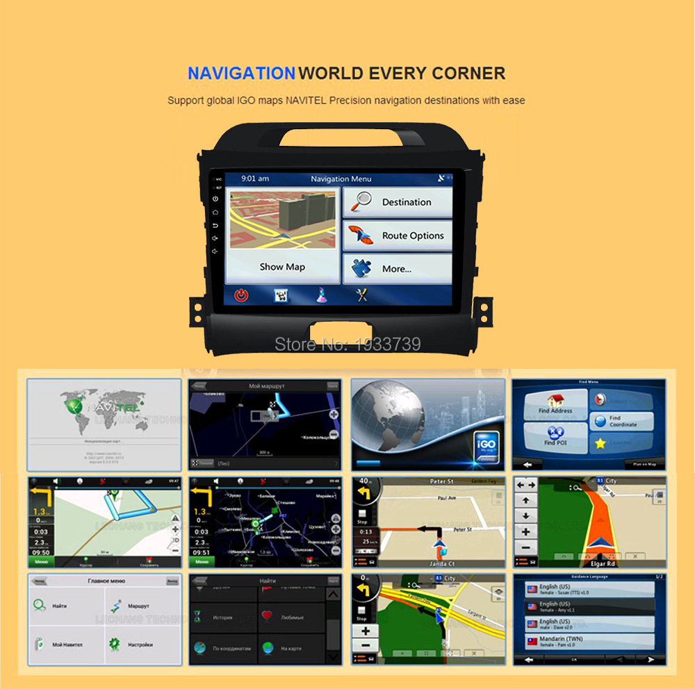 Asottu CZP9060 2G android 7.1 octa 8 core car dvd player gps 2 din car gps video gps for KIA sportage 2014 2011 2012 2013 2015