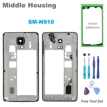 High Quality Replacement Middle Frame for Samsung Galaxy Note 4 Note4 Middle Housing Screen Plate Repair Part for Note 4 N910F(China)