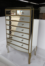 MR-401113L Mirrored drawers tall chest(China)