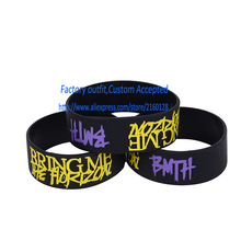 "BMTH BRING ME THE HORIZON Silicone 1"" Wide Colour Wristband Bracelet"