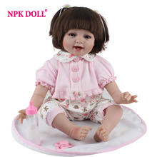 NPKDOLL Silicone Baby Reborn 55 cm Realistic Doll Reborn Toys For Girls Lifelike Reborn Babies Birthday Gift Princess Doll(China)