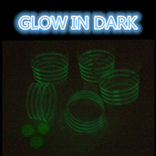 Free of shipping beer pong party set glowing party cups kits  black light pong set 22cups with 3 balls