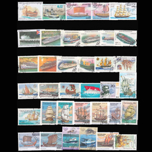 100 PCS/ Lot Sailboat Boat Used Postage Stamps with post Mark Good Condition Collection Stamp No Repeat(China)