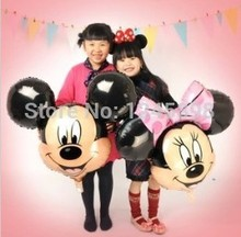 In stock!!Wholesale big size Minnie and mickey mouse head foil balloons mylar cartoon ballons party decoration 50pcs/lot