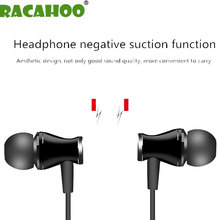RACAHOO In-Ear Earphone Special Edition Headset Bass Stereo Earphones With Microphone Headset For MP3 OPPO Xiaomi phone(China)