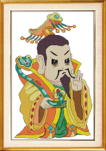 Joy sunday cartoon style The Jade Emperor cross stitch embroidery designs patterns for beginers online wholesale store
