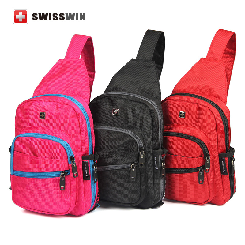 Swisswin Brand Fashion Casual Shoulder Bags For Teenager Men Multiple Colour Sling Bag Small Travel Waterproof Chest Bag <br><br>Aliexpress