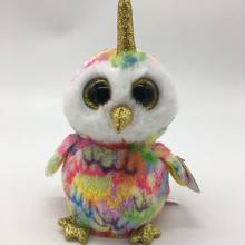 Enchanted Owl With Tag And Label TY BEANIE BOOS Collection BIG EYE Plush Toys Stuffed Animals Soft Toy Baby Decor