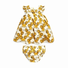 Summer baby Girl cute little lion skirt + shorts suit Europe and the United States wind children's clothing For 0-2Y(China)