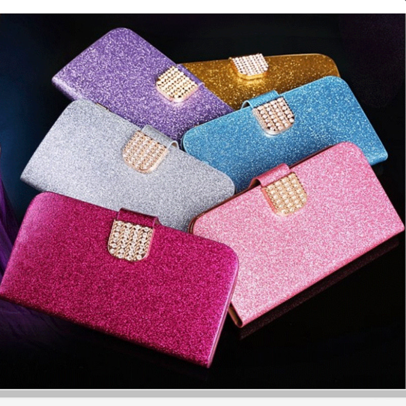 S7262 Luxury Bling Wallet Phone Bags Cases Samsung Galaxy Star Pro S7262 S7260 S 7262 7260 Fashion case cover &Card Holder