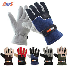 Men Cold-proof Cold Weather Gloves Winter Warm Fleece Thermal Car Motorcycle Bike Ski Snow Snowboard Gloves 5 Colors(China)
