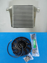 BAR & PLATE Alloy Intercooler & Fan FOR 280x300x76 mm 3''(76mm) I/O Turbo Inter Cooler(China)