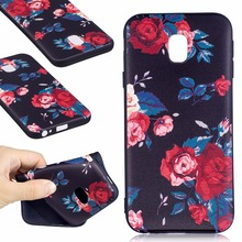 HLXViLREP Case Fundas Coque For Samsung Galaxy J3 J5 J7 2017 Series Case Pretty red rose 3D Matte Relief Soft Phone Cover Capa