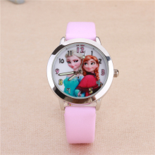 Cartoon Watches Lovely Kids Girls Boys Children Students Quartz Wrist Watch ELSA and ANNA Princess Style Clock Horloge Reloj(China)