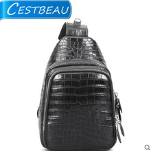 Cestbeau Alligator men chest bag belly shoulder bag men's slant slung male bag new leisure purse fashion trend(China)