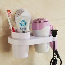 Multifunctional Bathroom Set Wall Mount Hair Dryer Holders Makeup Toothbrush and Toothpaste Storage Rack  Shelf Organizers