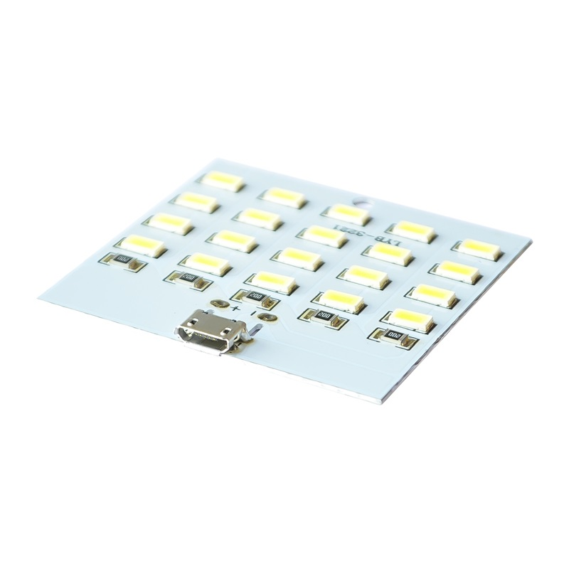10pcs/lot 20 beads LED lamp board USB mobile lamp emergency lamp night lamp(China)