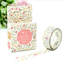 1.5*7M Fresh Floral washi tape DIY decorative scrapbooking masking tape adhesive label sticker tape stationery