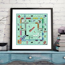 Monopoly Game Board Canvas Art Print Painting Poster Wall Pictures For Room Home Decoration Home Decor Silk Fabric No Frame(China)