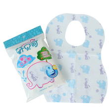 10PCS/Set baby bibs Cotton Sterile Disposable Baby Burp Cloths Print Waterproof Bibs Baby Clothing Accessories(China)