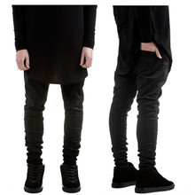 Hot high quality kanye west style men's black skinny slim fit jeans hip hop swag stretch biker jeans homme Jogger pants trousers(China)