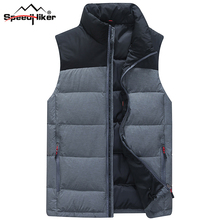 Speed Hiker Down Vest Men Winter 2017 New 90% White Duck Down Fashion Style Very Thick Waistcoat Plus Size 4XL K8041