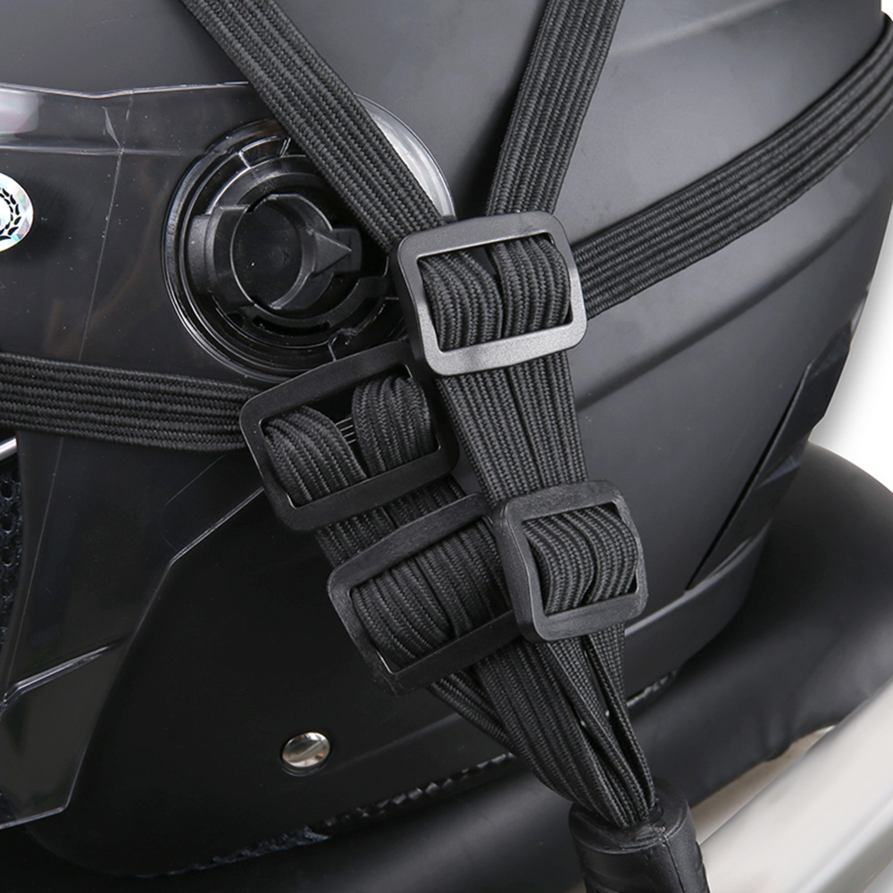 Universal Moto Helmet Mesh Net Motorcycle Luggage Net Protective Gears Luggage Hooks Motorcycle Accessories Organizer Holder 15