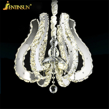 Wholesale Diamond Flowers LED Crystal Pendant Light Modern LED Lighting Circles Hanging Lamp 100% Guarantee Fast