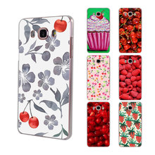 Green cherry fruit cherry Blueberry Strawberry hard clear phone Case for Samsung Galaxy J5(2017) J7(2017) J510 J710 J2 Prime J3(China)
