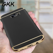 GKK Luxury Electroplating Phone Cases For Samsung Galaxy S7 Edge S7 Case Full Coverage Case For Samsung Galaxy S7 edge Cover(China)