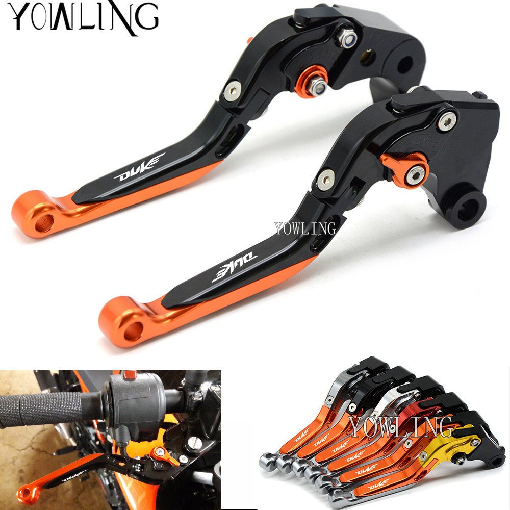 For KTM Duke RC 125 200 390 Enduro Supermoto SM SMC Adventure 690 950 990 Motorcycle CNC Aluminum Brake Clutch Levers with DUKE<br>