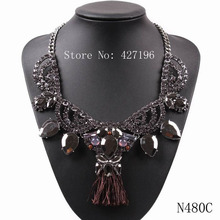 2017 Chinese Yiwu Market Fashion Jewellery Exquisite Luxury Rhodium Color Statement Necklace For Modern Ladies Fit Clothing