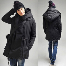 Mens Long Winter Coat 2017 Hot Fashion Men Hooded Overcoat Long Thick Padded Jackets Oversized M-5XL Man Jacket Winter Warm T285