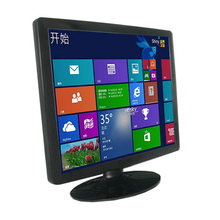 "17"" Desktop 4-wire Resistive POS Touch Screen Monitor With DVI VGA Input"