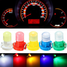 10pcs/lot T3 LED Car Light Bulb Cluster Gauges Dashboard White/Yellow/Blue/Red/Green instruments Panel Climate Base Lamp Light(China)
