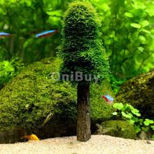 Water Aquarium Glass Artificial Plants Fish Tank Decoration Accessories Simulation Moss Christmas Tree Pet Supplies