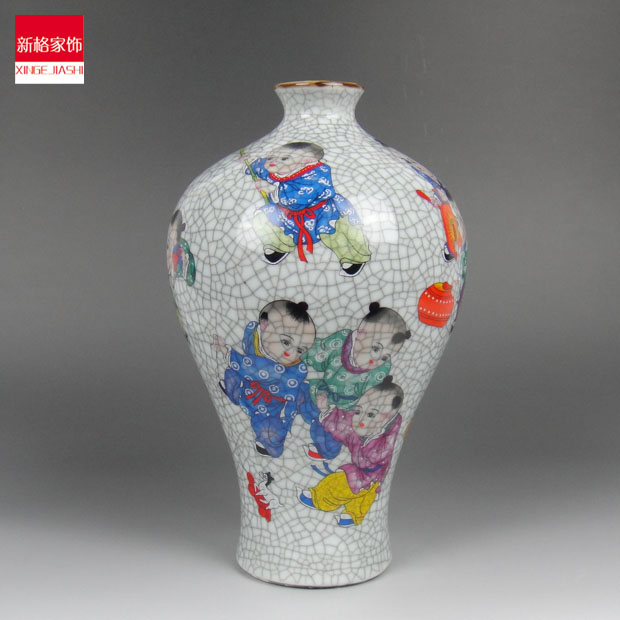 Special Shipping Jingdezhen Antique Vase Crack Glaze Decoration