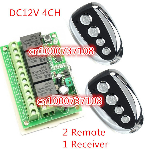 4CH RF light remote switches Learning code Light Lamp control switch 315M/433M on/off receiver switch<br><br>Aliexpress