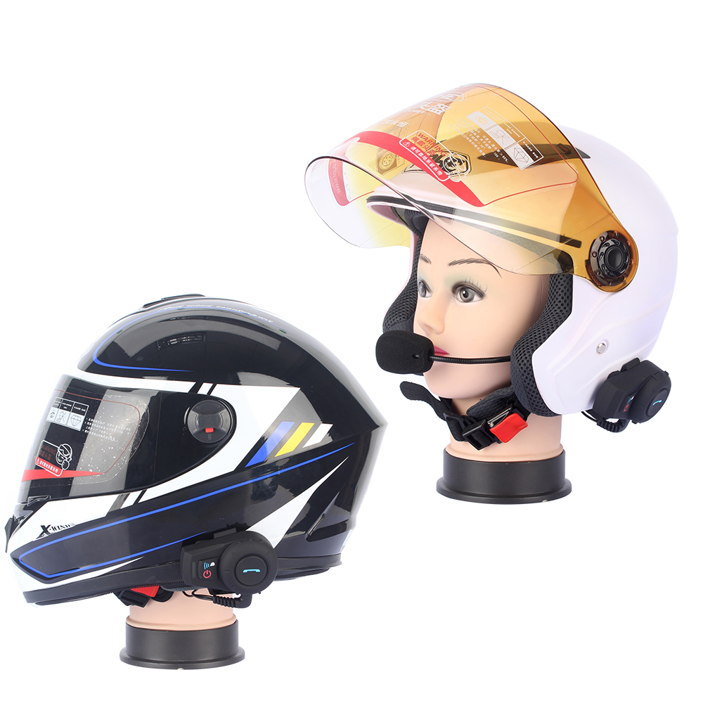 2017 Version With FM 3 riders waterproof bt bluetooth intercom interphone headset for motorcycle moto helmet intercommunicador
