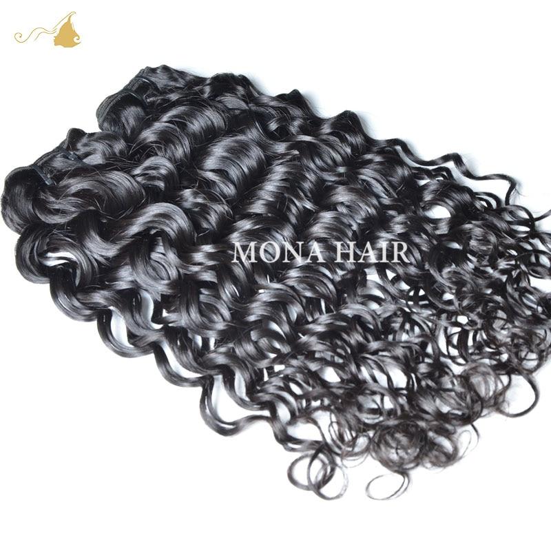 Water Wave Virgin Hair 8A Brazilian Water Wave 1 pcs 100% Unprocessed Natural Queen Weave Beauty Human Hair Extensions<br><br>Aliexpress