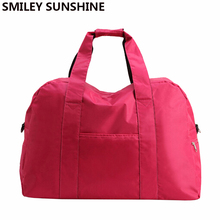 Candy Color Big Women Luggage Travel Bags Large Capacity tote Duffel Bag Weekend Bag Of Trip sac de Travel Accessories